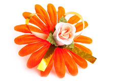 Artificial orange flower Royalty Free Stock Image