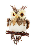 Artificial owl isolated on the white background Stock Photo