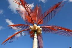 An artificial palm tree Stock Photos