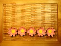 Artificial paper flowers Stock Image