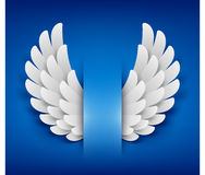 Artificial paper wings Royalty Free Stock Photo