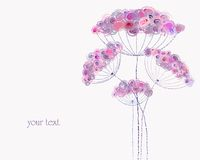 Artificial pastel flower illustration Stock Photo