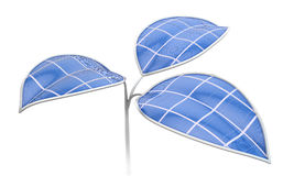Artificial photosynthesis concept. Photovoltaic leafs - Artificial photosynthesis concept illustration Stock Images