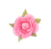 Artificial pink flower isolated on white Stock Photography