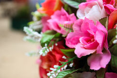 Artificial pink rose bouquet Royalty Free Stock Images