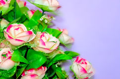 Artificial pink rose flowers Stock Photo