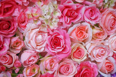 Artificial pink roses Stock Images