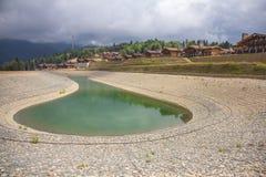 Artificial pond Stock Photo