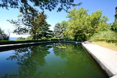 Artificial pond Stock Image