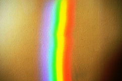 Artificial rainbow light concrete wall background Stock Photos