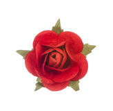Artificial red flower isolated on white Royalty Free Stock Images
