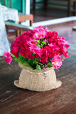 Artificial red flowers Royalty Free Stock Photo