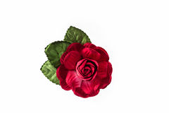 Artificial red of flowers made from paper on white background. Artificial red of flowers made from paper isolated on white background royalty free stock photos