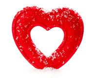 Artificial Red Heart On A white Background Stock Images