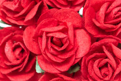 Artificial Red Paper Roses. Royalty Free Stock Image