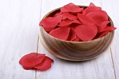 Artificial red petals Royalty Free Stock Photography