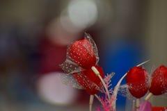 Artificial red rose. Artificial art of life Stock Photos