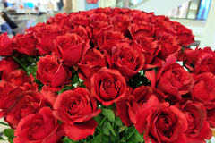 Artificial red roses bouquet Stock Photo