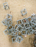 Artificial reef the fish house in the sea Stock Photography