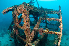 Artificial reef house underwater Stock Photography