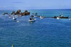 The Tangalooma Wrecks. Moreton Island Stock Photography