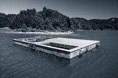 Artificial reservoir in the foothills of the Taurus. Turkey. Royalty Free Stock Images