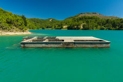 Artificial reservoir in the foothills of the Taurus. Turkey. Royalty Free Stock Photography