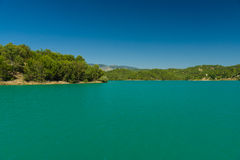 Artificial reservoir in the foothills of the Taurus. Turkey. Stock Images