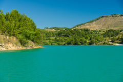 Artificial reservoir in the foothills of the Taurus. Turkey. Royalty Free Stock Photos