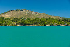 Artificial reservoir in the foothills of the Taurus. Turkey. Stock Photo