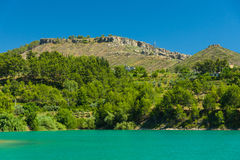 Artificial reservoir in the foothills of the Taurus. Turkey. Stock Photos