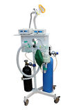 Artificial respirating unit. Isolated under the white background Royalty Free Stock Photos