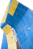 Artificial rock climbing wall Stock Image