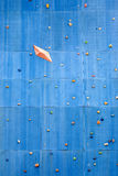 Artificial rock climbing wall Royalty Free Stock Photography