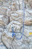 Artificial rock climbing wall Stock Images