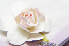 Artificial rose close up. Royalty Free Stock Photography