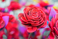 Artificial rose flower, handicraft items on display , Kolkata Royalty Free Stock Photography