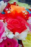 Artificial rose flowers bouquet Royalty Free Stock Photos