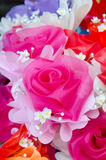 Artificial rose flowers bouquet Stock Photo