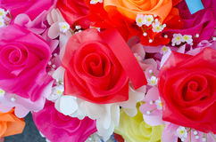 Artificial rose flowers bouquet Stock Images