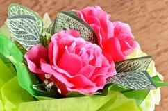 Artificial rose flowers bouquet Stock Image