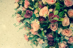 Artificial rose flowers mixed bouquet Stock Photography