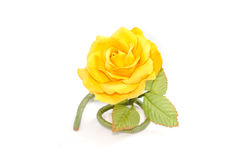 Artificial Rose on white background Stock Photography