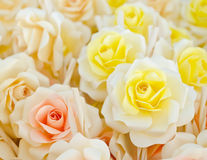 Artificial rose wood flowers Royalty Free Stock Images
