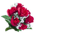 Artificial Roses. Bunch of  Artificial Roses Isolated on White Royalty Free Stock Photos