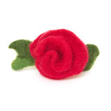 Artificial roses made of cloth. Royalty Free Stock Image