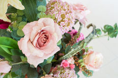 Artificial roses in vintage theme Stock Photo