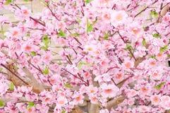 Artificial Sakura Flowers for Decorating Japanese Style Stock Photos