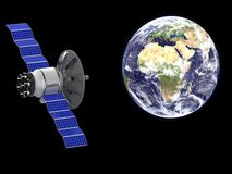 An artificial satellite Stock Image