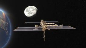 Artificial satellite Stock Image